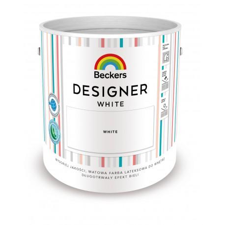 Opakowanie 2,5 litra z farbą Beckers Designer White