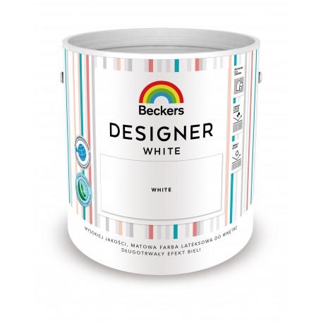Opakowanie 5 litrów z farbą Beckers Designer White