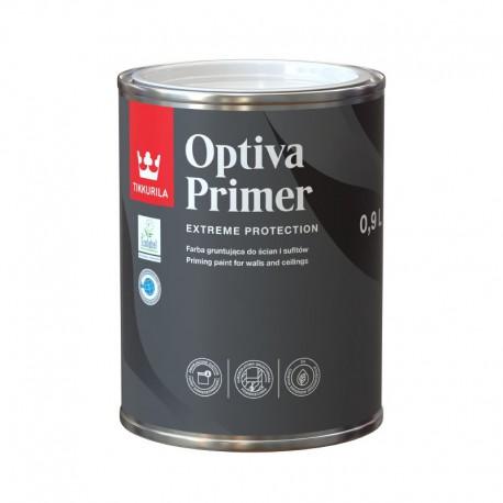 Puszka 0,9 litra z farbą gruntującą Tikkurila Optiva Primer