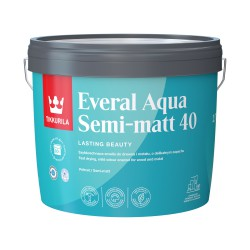 Puszka z emalią Tikkurila Everal Aqua Semi Matt (2,7 litra)