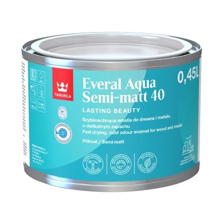 Puszka z emalią Tikkurila Everal Aqua Semi Matt (0,45 litra)